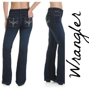 Wrangler Booty Up Technology Embroidered Jeans